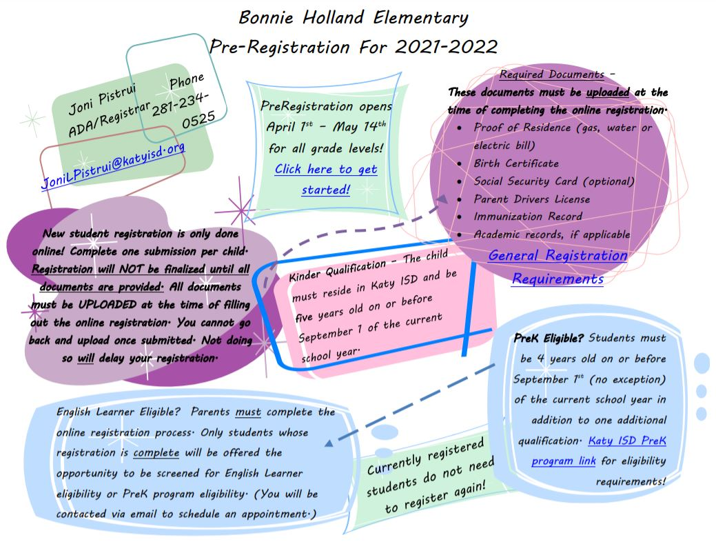 Katyisd Calendar 2022.Pta News Events Bonnie Holland Elementary Pta